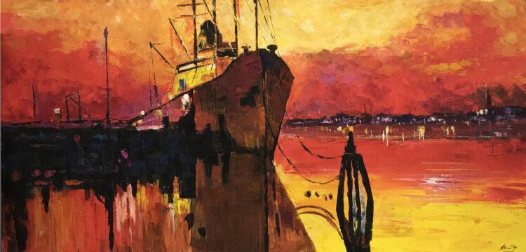 """Schilderij """"Le Havre"""""""