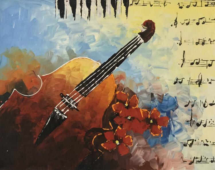 """Schilderij """"Musica"""""""