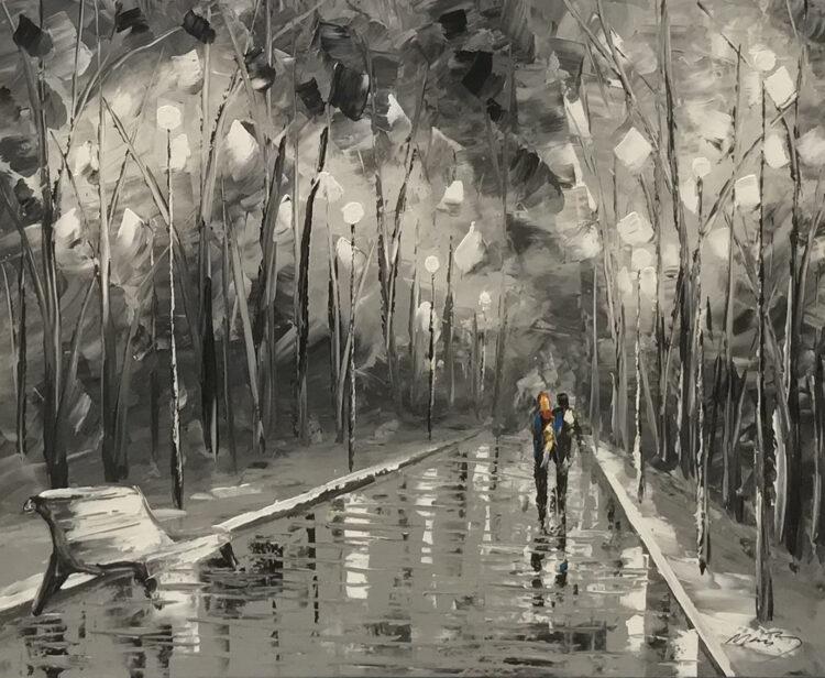 """Schilderij """"Walk in the parc"""""""