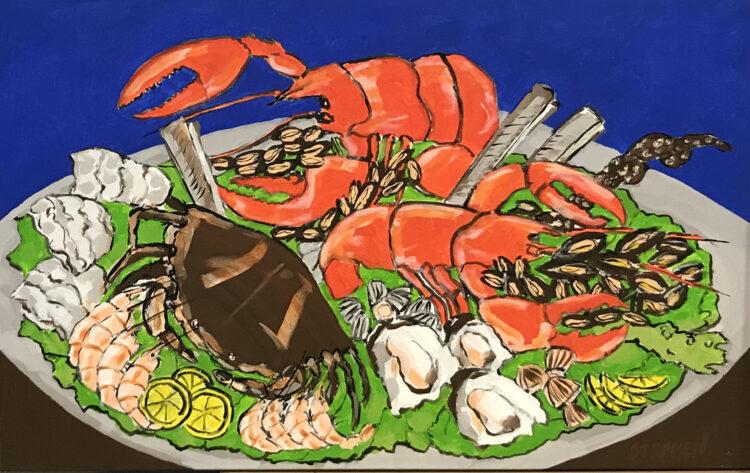 """Schilderij """"Kreeft / lobster"""""""