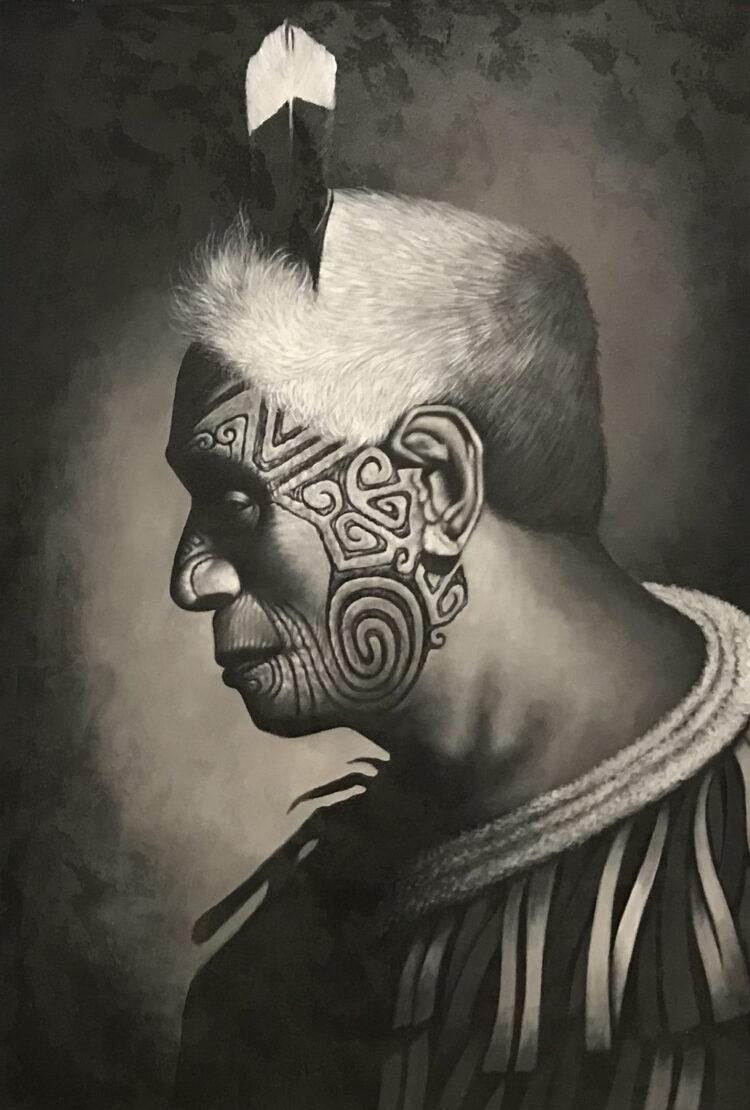 "Schilderij ""Maori man"""