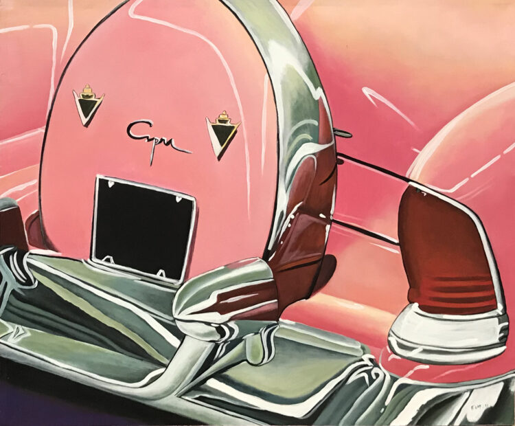 """Schilderij """"Pink Cadillac"""""""
