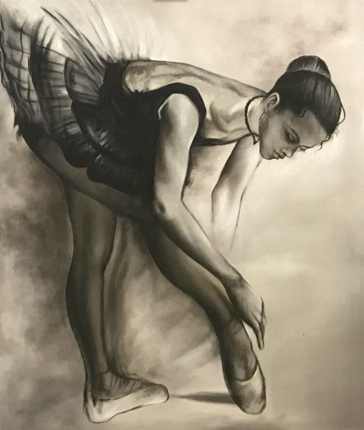 "Schilderij ""Balletdanseres / Ballet dancer"""