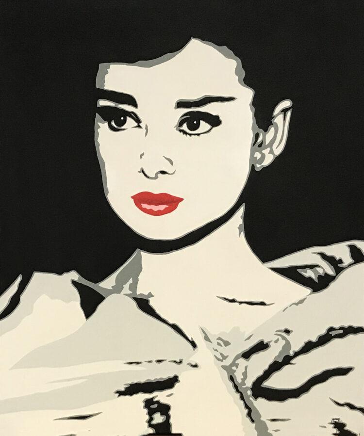"""Schilderij """"Audrey Hepburn"""""""