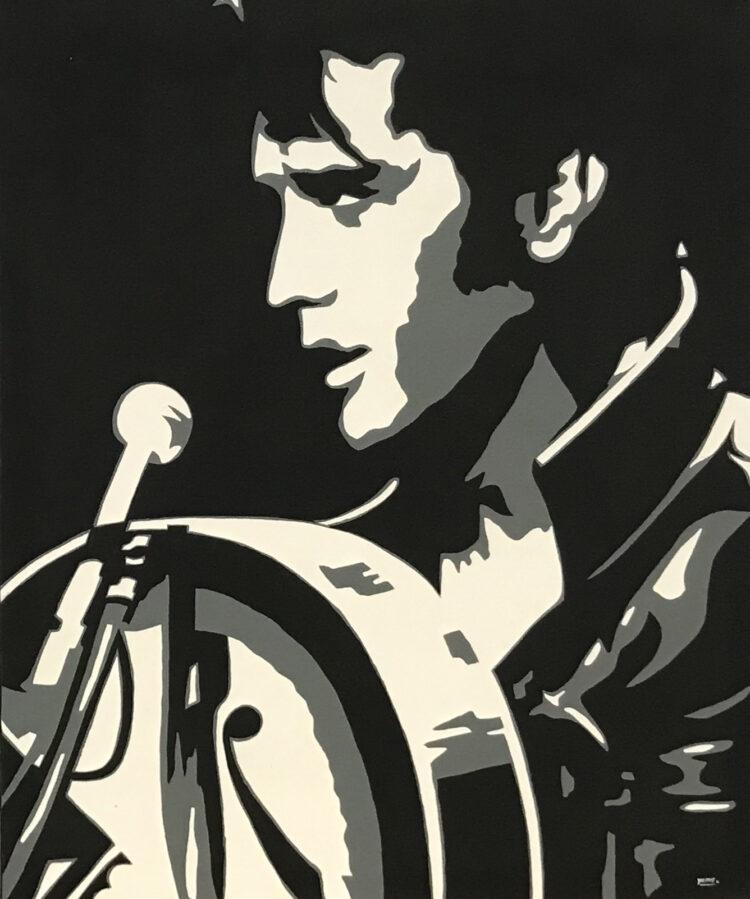 """Schilderij """"Elvis met gitaar"""""""