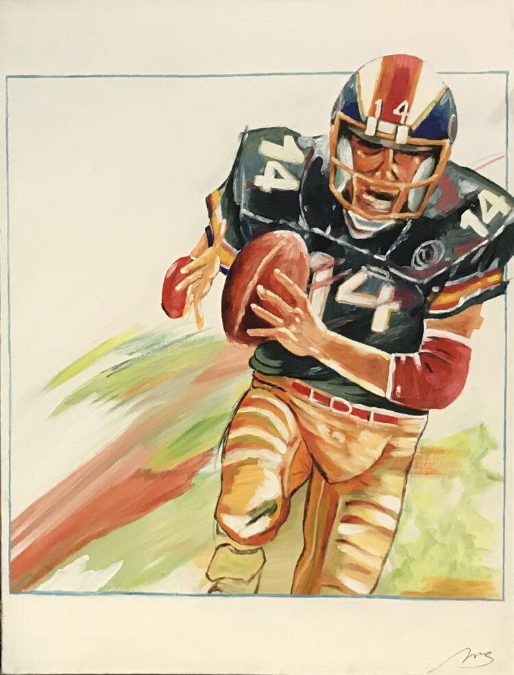 """Schilderij """"American football-speler / player"""""""