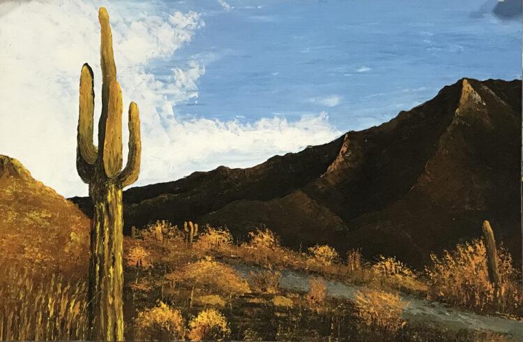 """Schilderij """"Arizona prairie"""""""