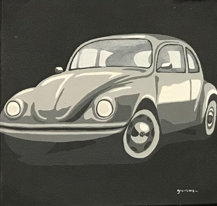 """Schilderij """"VW kever / beatle"""""""