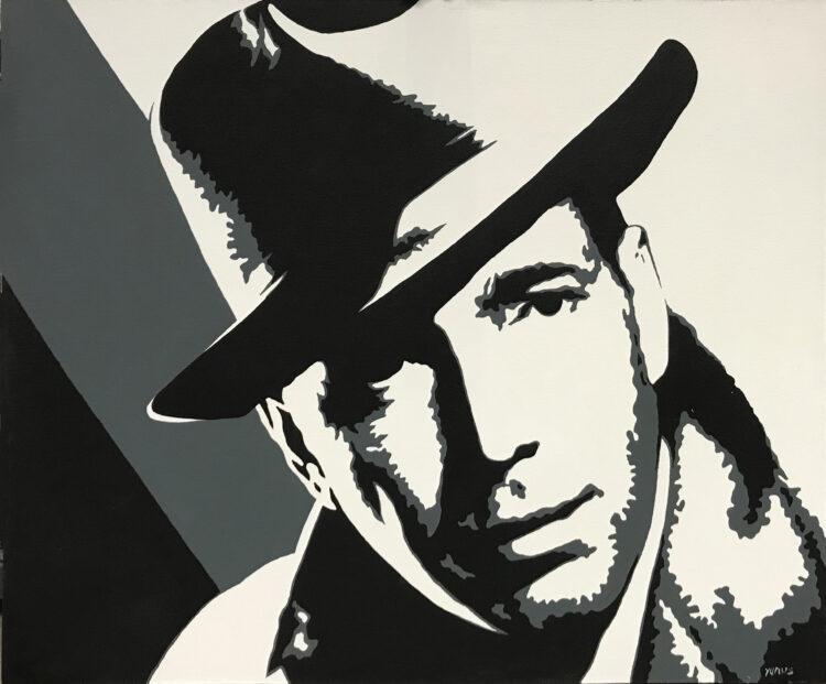 """Schilderij """"Humphrey Bogart"""""""