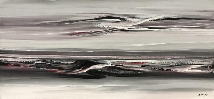 """Schilderij """"Abstract waves"""""""