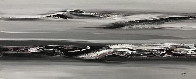"""Schilderij """"Abstract waves II"""""""