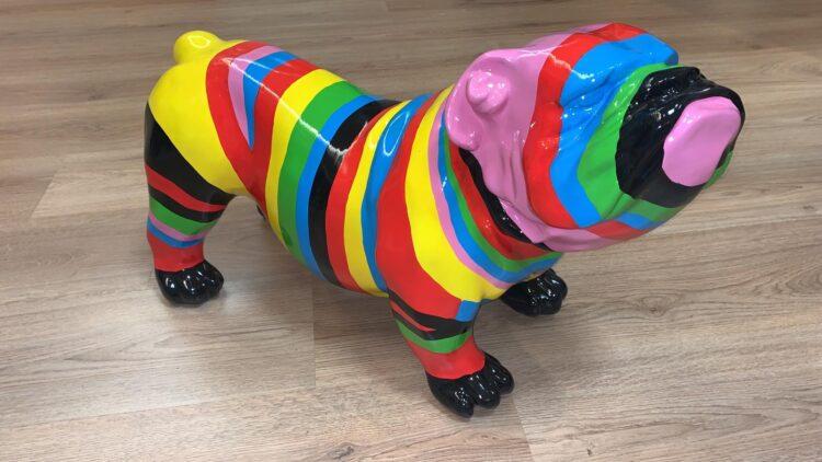 """Beeld """"Gekleurde Bulldog"""""""