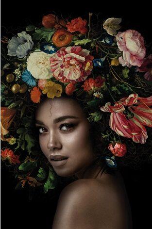 "Aluminium schilderij ""Flower Power 1B"" van MondiArt"