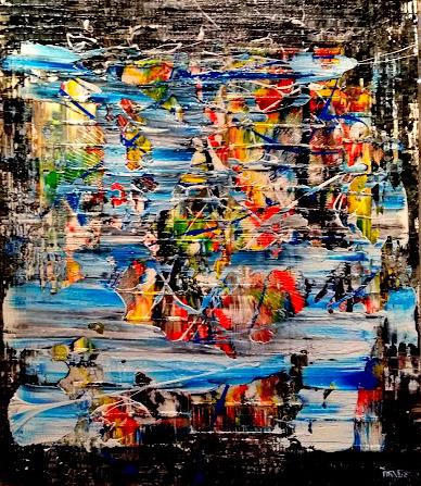 """Schilderij """"Eruption"""""""