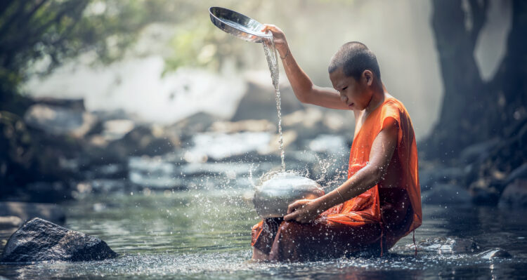 boeddistische jongen