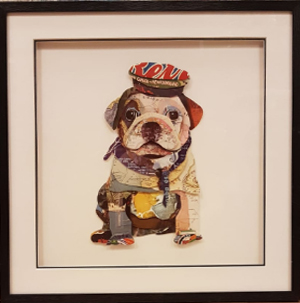 Paper Art hondje