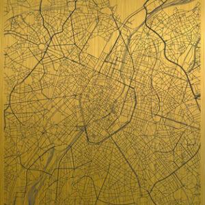 Brussels citymap gold