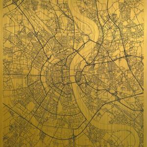 Cologne citymap gold