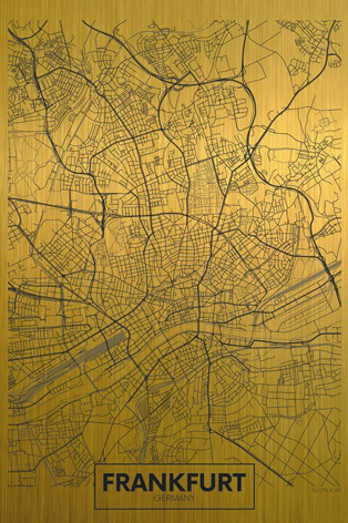 Frankfurt citymap gold