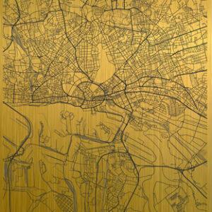 Hamburg citymap gold