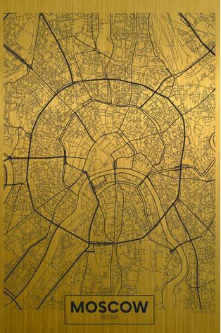 plattegrond moskou goud