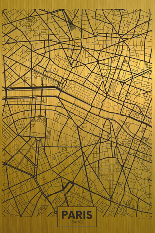 Paris citymap gold