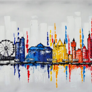 """Schilderij """"Kleurrijk Den Haag ii"""""""