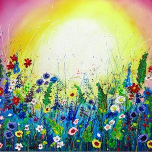 """Schilderij """"Flower garden II"""""""