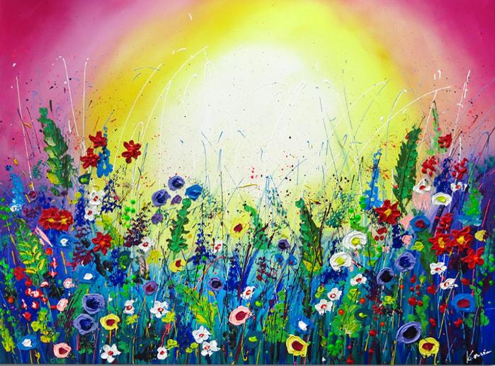 Flower garden ii schilderij