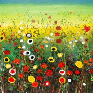 """Schilderij """"Flower garden"""""""