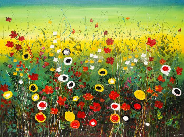 Flower garden schilderij