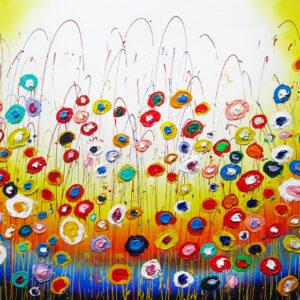 """Schilderij """"Flower party"""""""