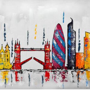 """Schilderij """"Skyline Londen"""""""