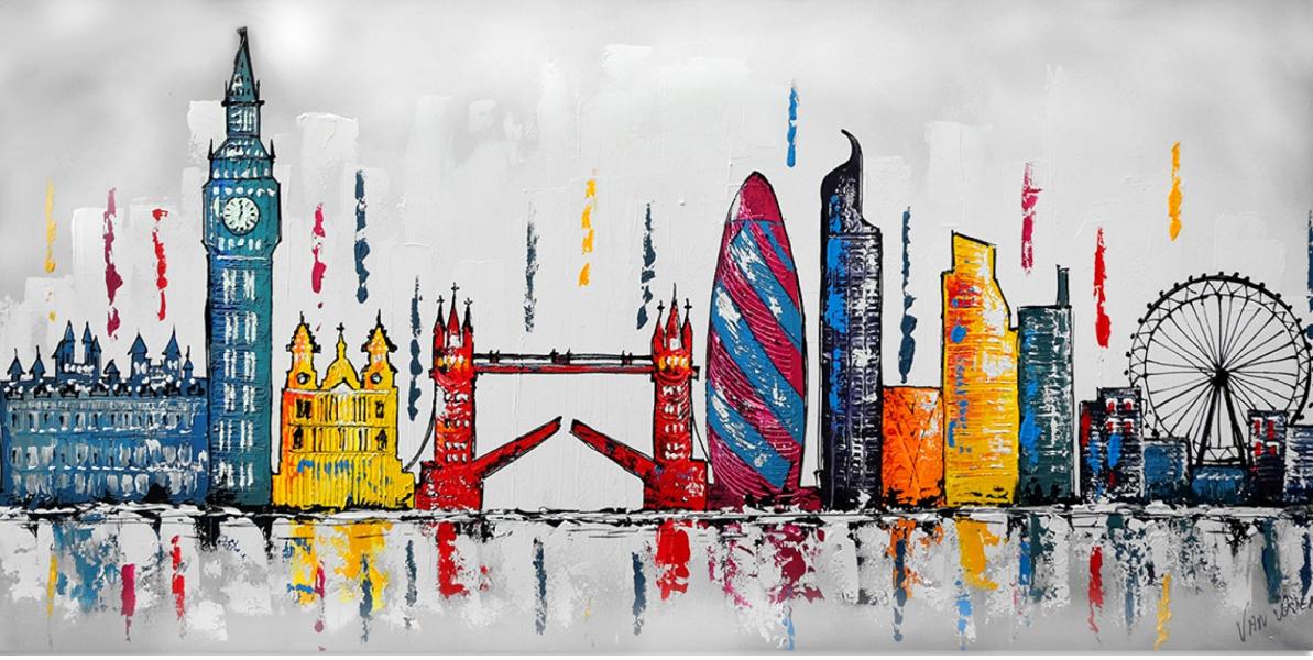 London skyline schilderij