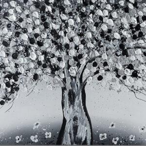 """Schilderij """"Magic white black and white"""""""
