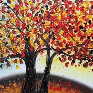 """Schilderij """"Magic Red"""""""