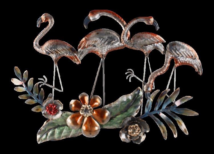 """Metalen wanddecoratie """"Dancing Flamingos"""""""