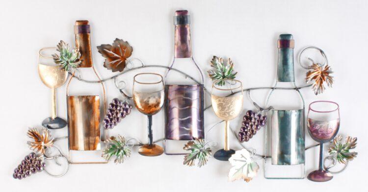 """Metalen wanddecoratie """"Fine Wine"""""""