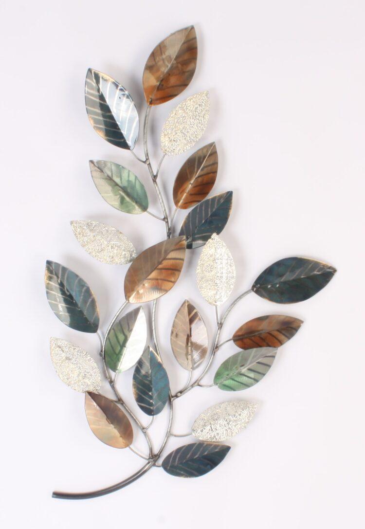 """Metalen wanddecoratie """"Golden Leaves"""""""