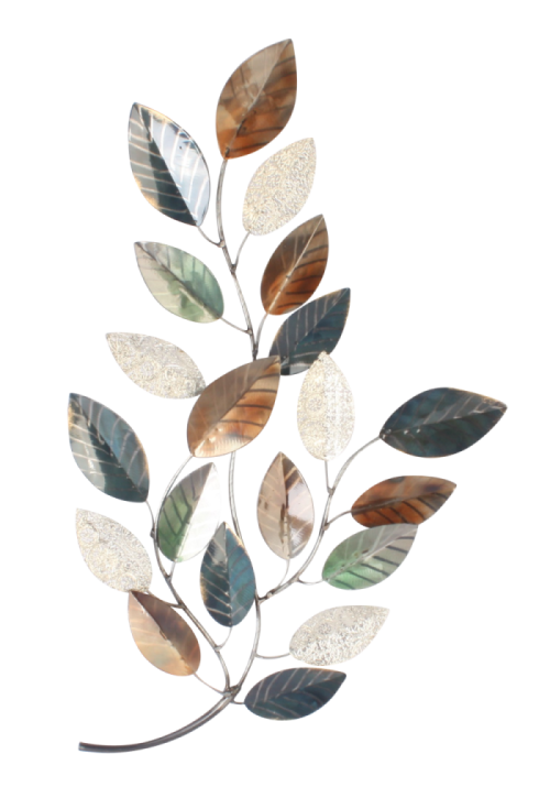 "Metalen wanddecoratie ""Golden Leaves"""