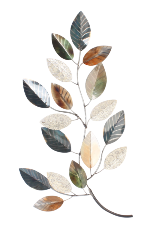 "Metalen wanddecoratie ""Leaves"""
