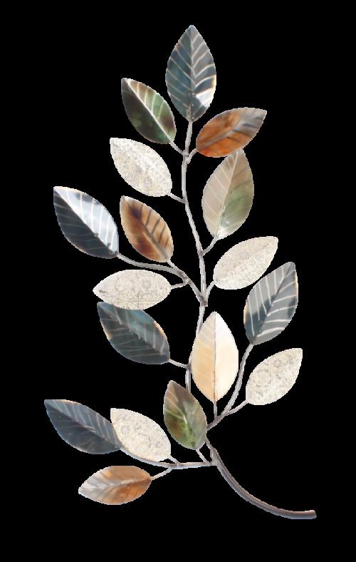 """Metalen wanddecoratie """"Leaves"""""""