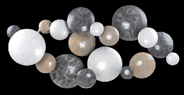 """Metalen wanddecoratie """"Molecule"""""""