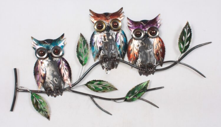 """Metalen wanddecoratie """"Tyto"""""""