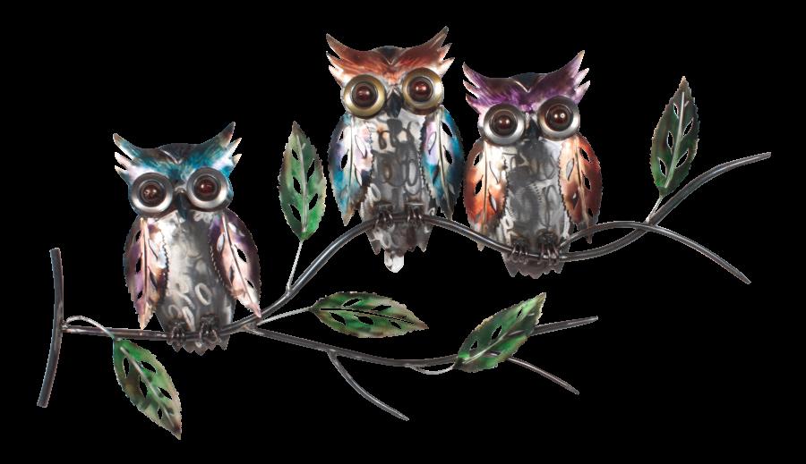Metalen wanddecoratie Tyto