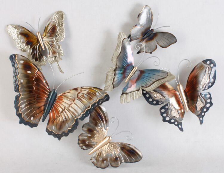"""Metalen wanddecoratie """"Vlinders"""""""