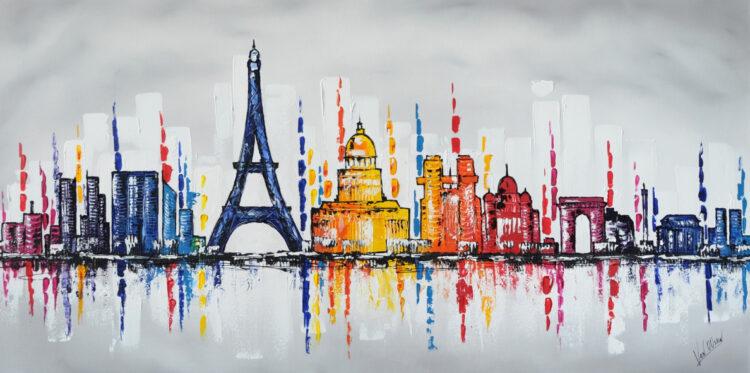 """Schilderij """"Skyline Parijs"""""""