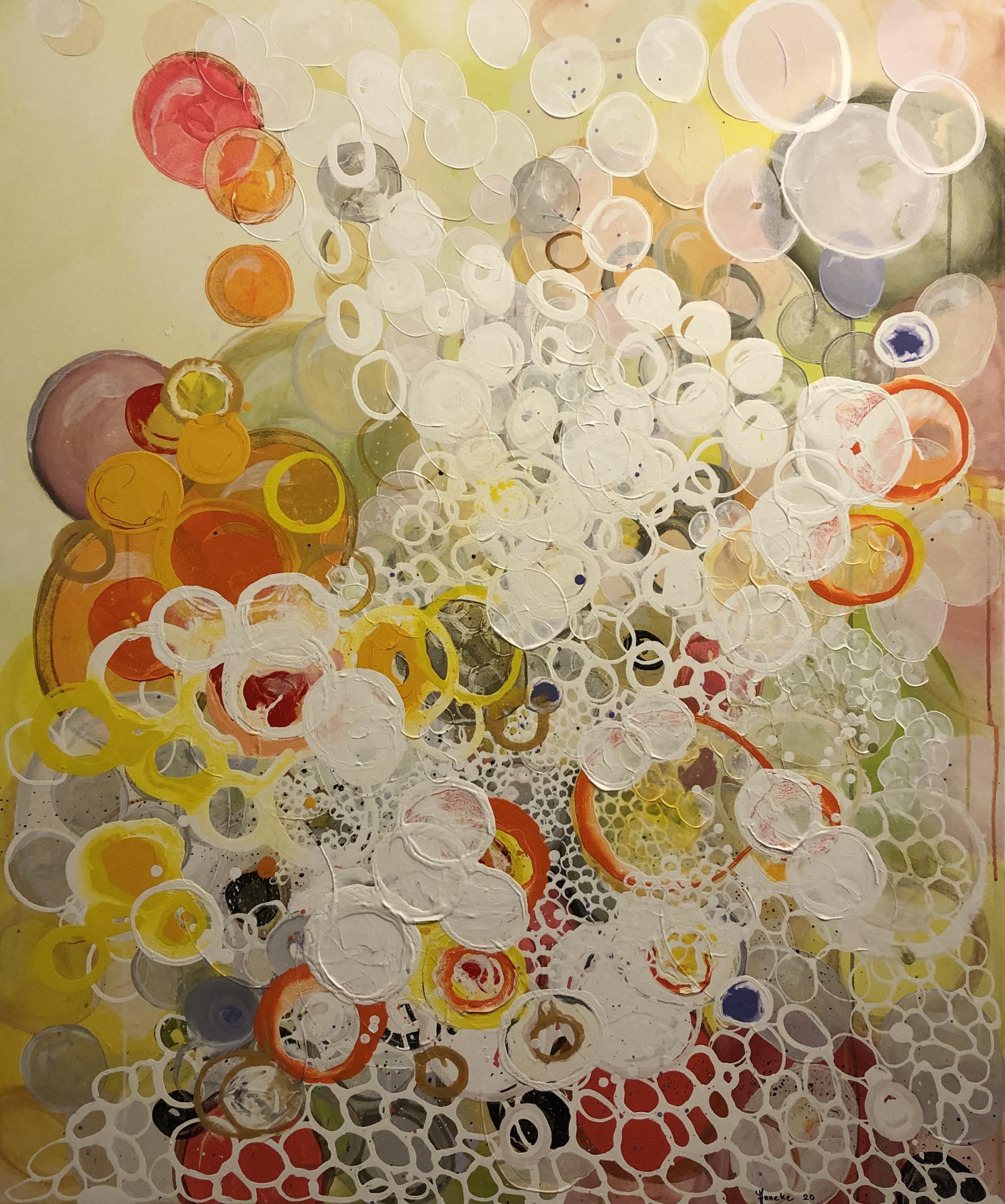 Spritz schilderij van Anneke Swanink