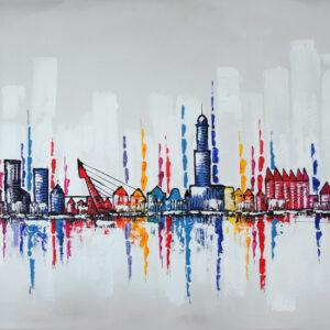 "Schilderij ""Skyline Zwolle"""