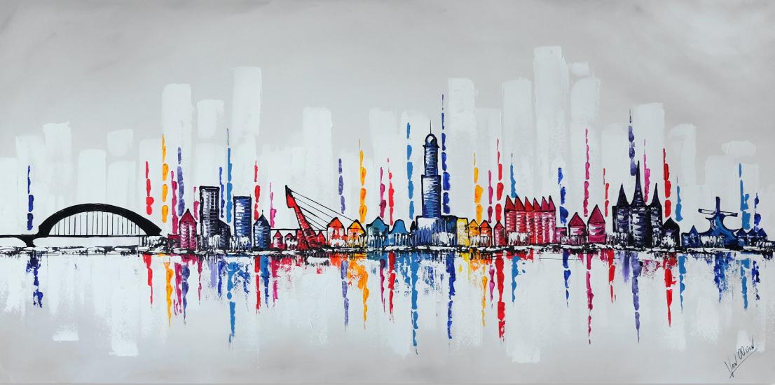 zwolle skyline schilderij